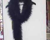 "Midnight Fox Faux Fur 65"" Long Scarf"