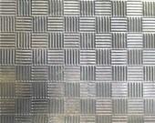 Nickel Silver Textured Metal Sheet Criss Cross Quilt Pattern 20g - 6 1/4 x 2 1/4 inches - Bracelets Pendants Metalwork