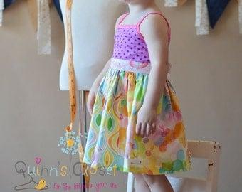 Girls Dress Pattern,  Dress Sewing Pattern, Easy Dress Pattern, Knit Woven, Little Lizard King, Knit Dress Sewing Pattern, Homegrown,