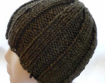 Ribbed Womens Alpaca Beanie Skullcap Hat
