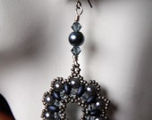 Pearl, Duo and Crystal Earrings - Shades of Grey