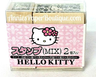 Hello Kitty Rubber Stamp Set (#1) - Use for Paper Crafting, Card Making - Cute in Planner and Journal