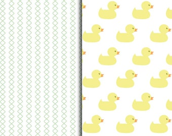 Rub a Dub Duckie Pattern Sheets