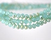 Rondelle Faceted Crystal Glass Beads Aqua Champagne 3x4mm -BZ0486 / 145Pcs