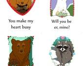 Woodland Animal Valentine Cards
