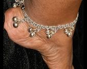 Silver Bell Anklet, Silver Ankle Bracelet, Jingle Bell Anklet, Dangle Anklet, Summer Jewelry, Charm Anklet, Fun Jewelry, Silver Anklet