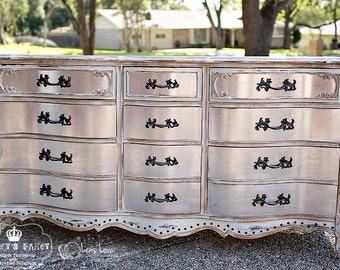Glamorous French Provincial 9-drawer dresser