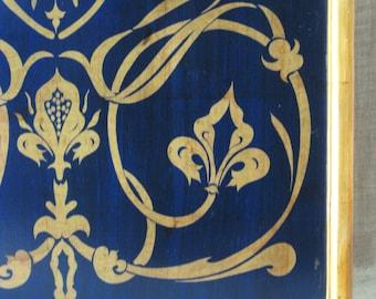 ADULT Content , Gold Leaf Painting , Art , Fine Art , Scroll Work , Gold Leaf , Original , Architectural , Ornate , Vintage Art