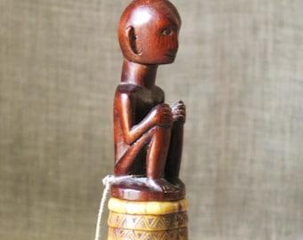 Folk Art , Snuff Box , Tribal Folk Art , Box , Handmade , Folk Art Box , Hand Carved , Antique Filipino Lime Box , Wood Carving , Tribal Art