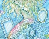 Chrysalis Mermaid - A Fine Art Greeting Card