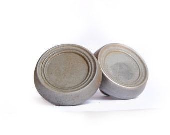 FREE SHIPPING - Vintage Brushed Steel Doorknobs, One Pair E1433
