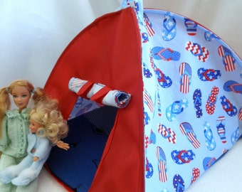 Pop Up TENT Flip Flops dolls or stuffed animals up to 14 inch