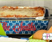 Personalized Casserole Holder - 5 Patterns - Personalize with Vinyl