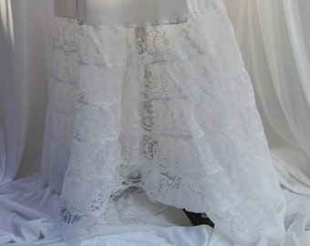 Medium white petticoat slip