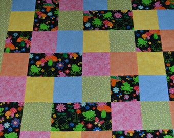 Love of Frogs Crib Quilt