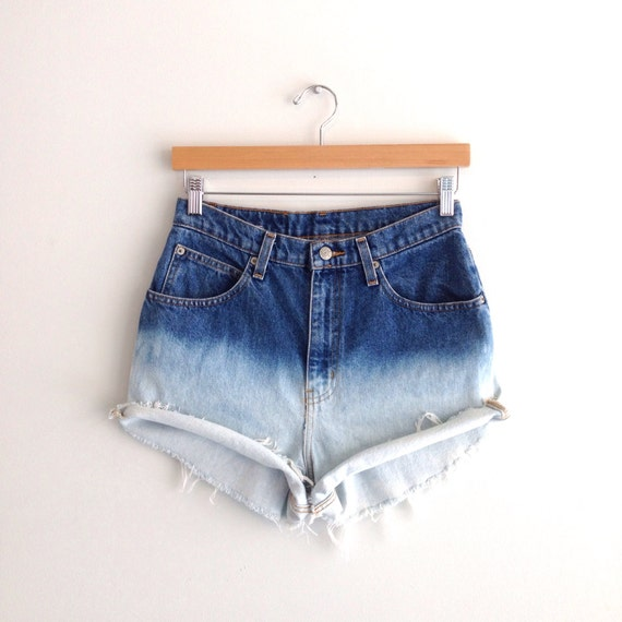 Ombre High Waisted Denim Shorts Size Small