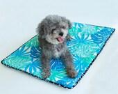 Small  'Lanikai Blue' Barking Dog Blanket