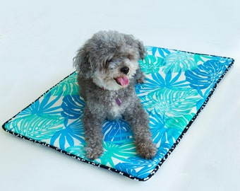 Dog Blanket Small  'Lanikai Blue' Barking Dog Blanket