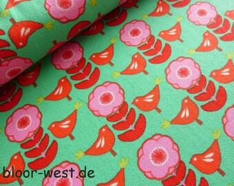 "Lillestoff Stretchjersey ""Piepmatz"" Dickey by Orike Muth Organic Cotton Jersey Fabric"