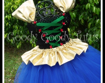 ARENDELLE PRINCESS Frozen Anna Inspired Tutu Dress - Small up to 12/18 mos