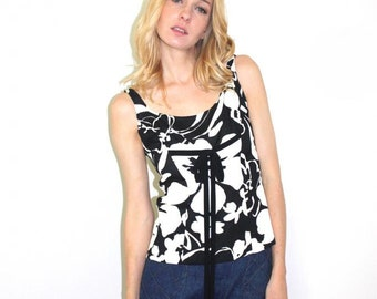 1960s floral tank top