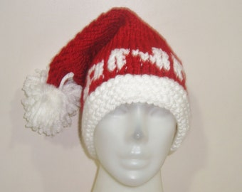 """Personalized Knit Hat """"ANN"""" Names for Womens Hats gifts for women santa hat"""
