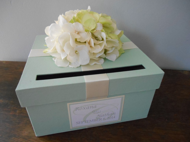 Custom Wedding Card Box Mint Green Wedding Reception Card – Wedding Boxes for Cards in Reception