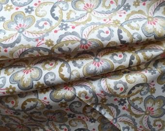 Neutral Cotton Quilting Fabric Victoria and Albert Garthwaite Scroll Rowan PWVA010 HALF YARD