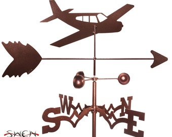 Hand Made Low Wing Airplane Weathervane NEW