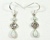 Sterling Silver Fire Opal and Topaz Earrings  FOT-01