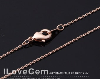 WSALE /20 pcs/ NP-1513 Necklace Chain, Rose Gold, 225 Diamond Cut chain, 16 inch/ Thin chain, Dainty Chain, Delicate Chain, rose gold chain