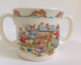 Vintage Bunnykins Two Handled Mug
