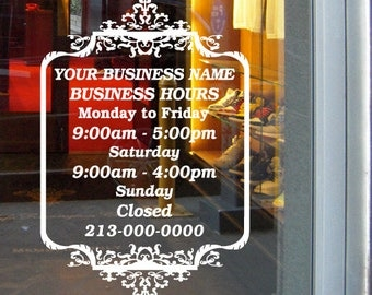 W By H By Appointment Only Sign Vinyl Sticker Decal - Cute custom vinyl stickers   for business