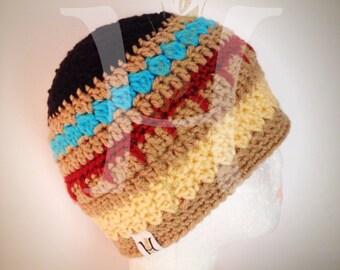 Indian Princess Pocahontas themed crochet Beanie hat