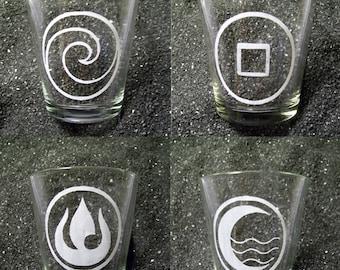 Avatar the Last Airbender shot glass set