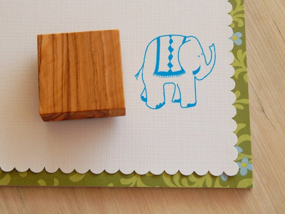 Elephant Olive Wood Stamp