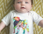 Pug baby one-piece bodysuit or toddler t-shirt - You pick the fabric, boy or girl