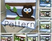 PDF Owl Baby Blanket Lovey Size Crochet Pattern Plus Bonus Baby Blanket Size Included