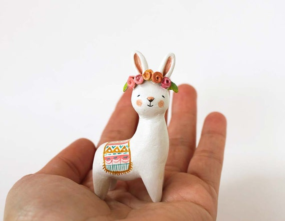 Painted Wooden Animal Miniature Figures For Sale