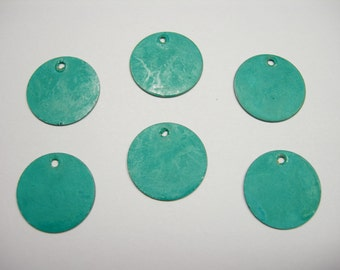 Turquoise Patina Drops Discs Earring Findings 6 - 15mm