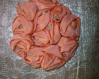 1 Luscious peach blush  ribbon work