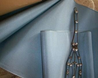 "silk/rayon taffeta ribbon in Blue Granite vintage taffeta ribbon  5 3/4"" wide"