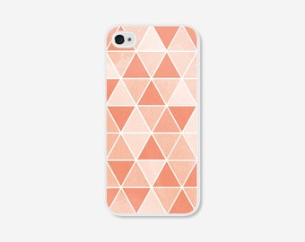 iPhone 6 Plus Case Geometric iPhone 6 Case Ombre Peach iPhone 5c Case Geometric iPhone 5 Case Coral iPhone 5c Case Ombre iPhone Case