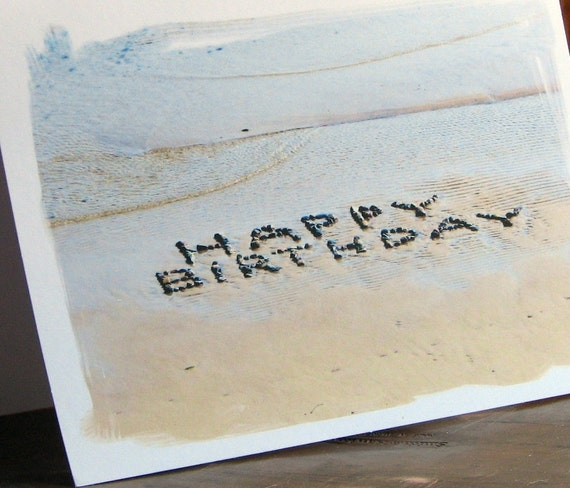 beach theme happy birthday note cards set of  fun birthday, Birthday card