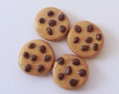 """SALE American Girl doll food Sale set of  4 chocolate chip cookies - for 18"""" dolls"""