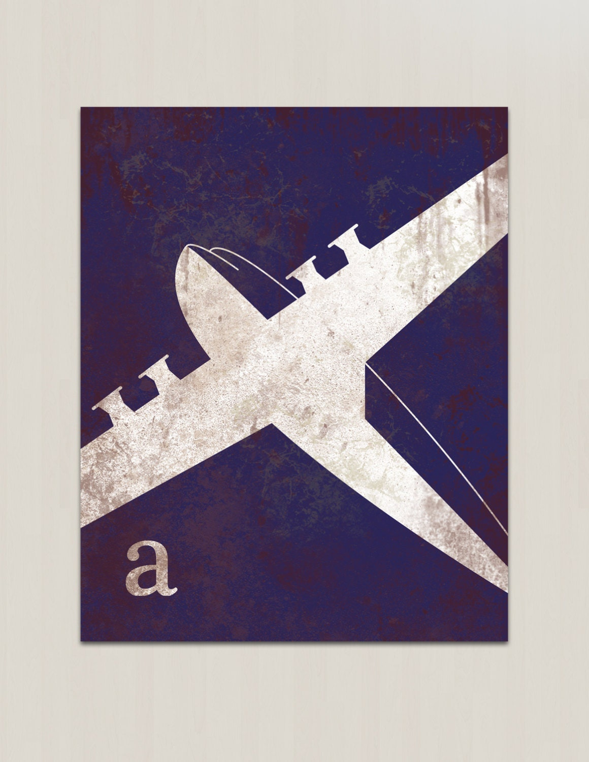 Vintage Plane Wall Decor : Airplane wall art for nursery vintage by