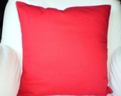 Solid Red Pillow Covers, Christmas Pillows, Decorative Throw Pillow, Cushion Covers Solid Red, Couch Bed Sofa Pillows, One or More ALL SIZES