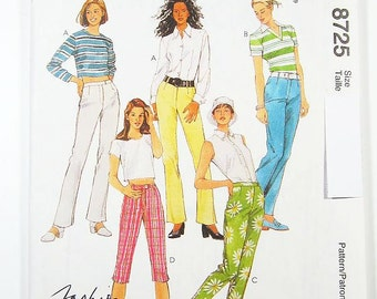 Sz 8/10/12 - McCall's Pants Pattern 8725 - Misses' Pants in Three Lengths