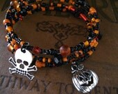 KIT Halloween Bracelet Memory Wire Wrapped Bracelet KIT