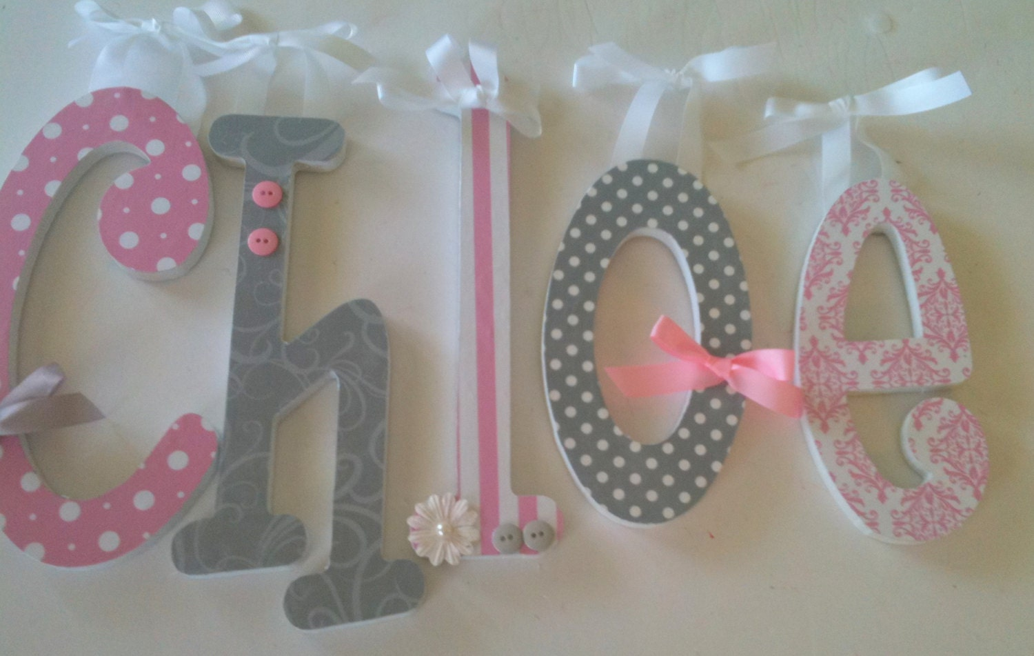Set Of 5 Wood Letter Set Wooden Letters Nursery By
